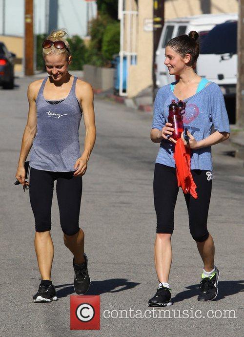 Ashley Greene  leaving a gym in Studio...