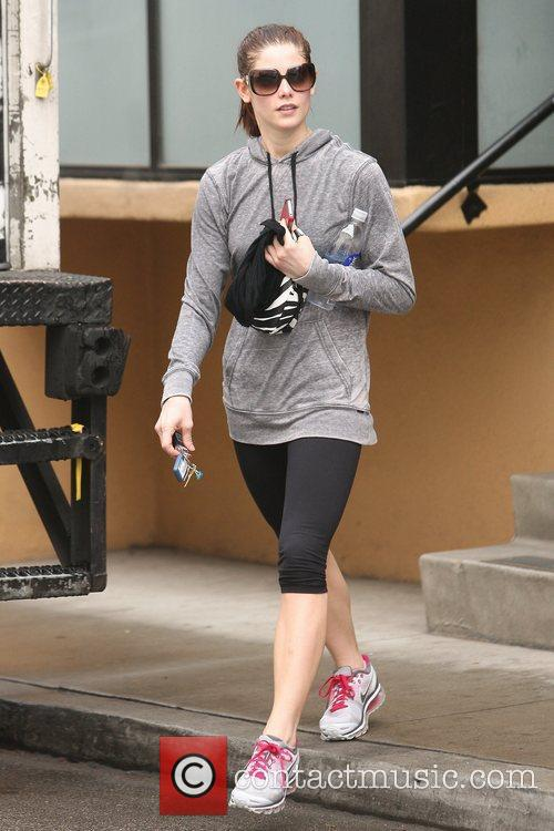 Leaving her gym in Studio City on a...