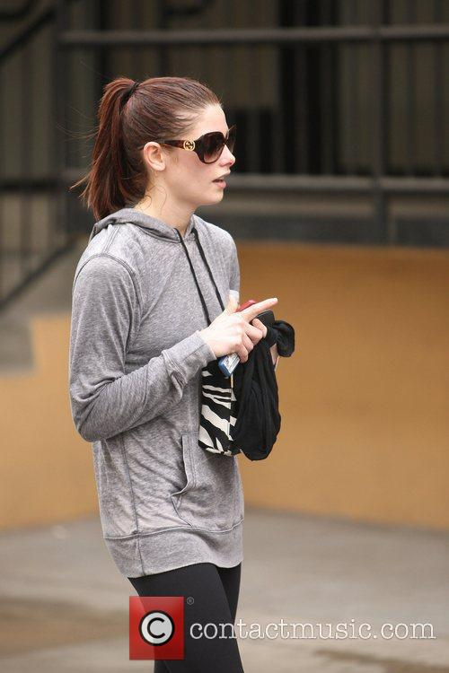 Ashley Greene leaving her gym in Studio City...
