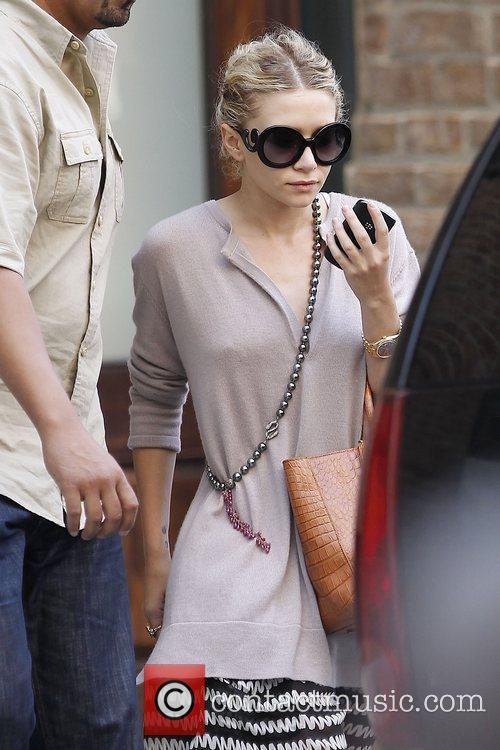 Ashley Olsen is seen exiting her hotel in...