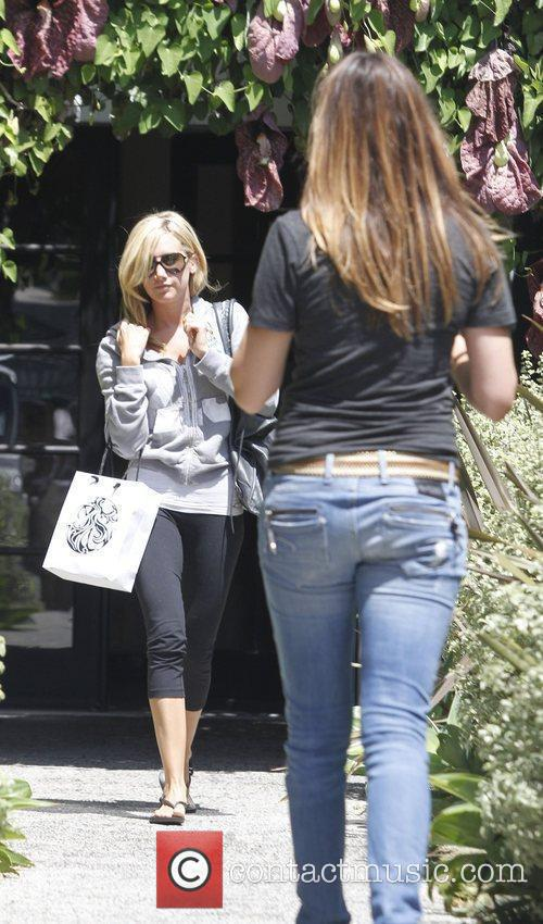 Ashley Tisdale leaves a salon in Beverly Hills...
