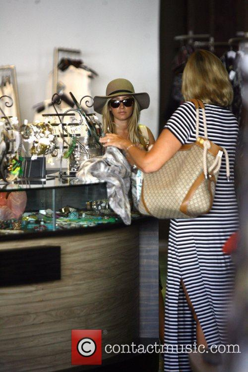 Ashley Tisdale goes shopping in Planet Blue Los...