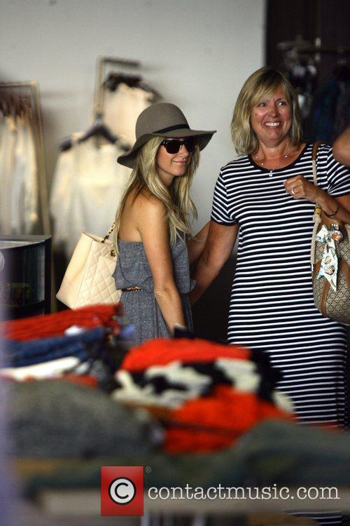 Ashley Tisdale goes shopping in Planet Blue