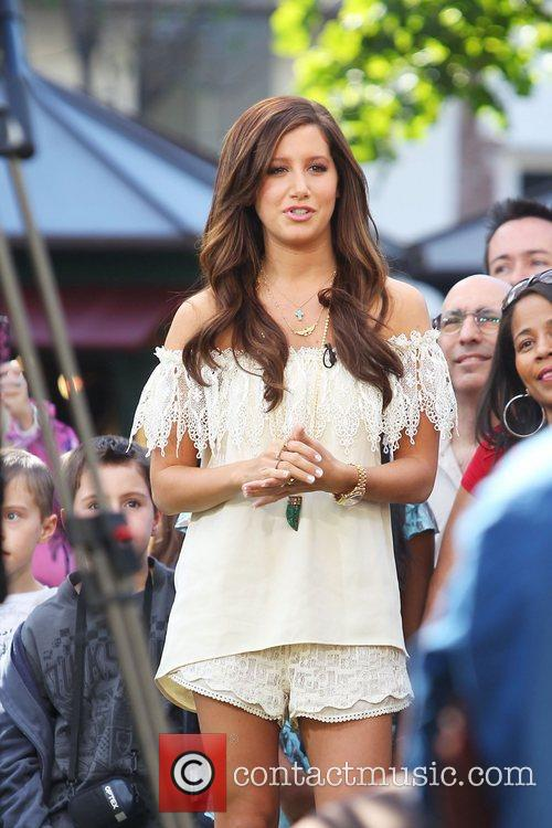 Ashley Tisdale is interviewed on Extra TV at...