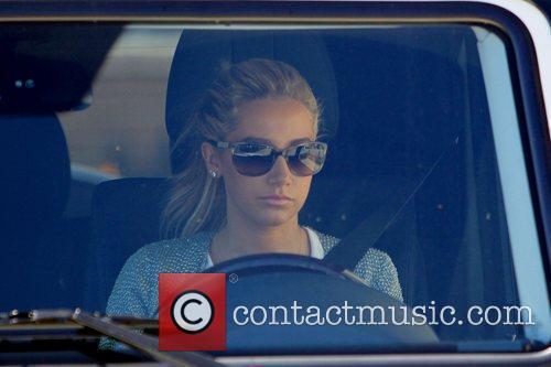 Ashley Tisdale leaving Barneys New York Los Angeles,...