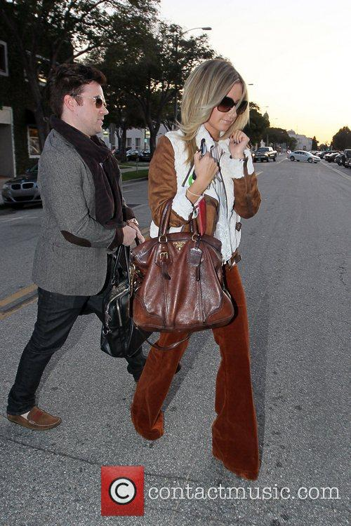 Ashley Tisdale  exits the Byron & Tracey...