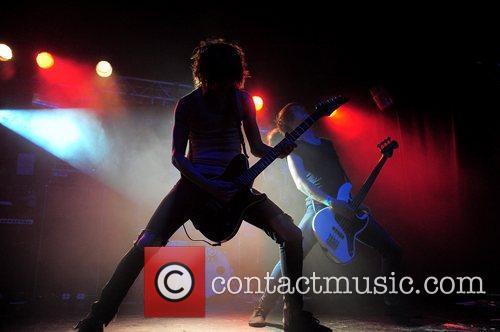 Cameron Liddell Sam Bettley 'Asking Alexandria' performing at...