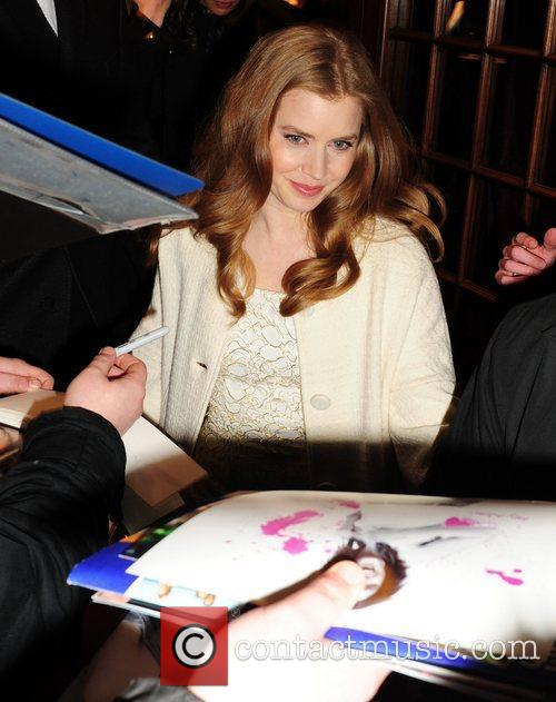 Amy Adams leaves the BAFTA Nominee party at...