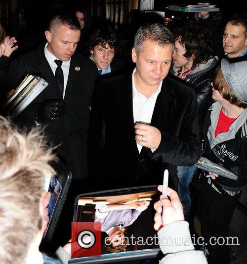 Guest leaves the BAFTA Nominee party at Asprey...