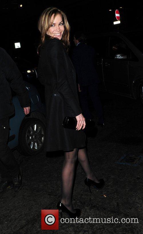 Tara Palmer Tomkinson leaves the BAFTA Nominee party...