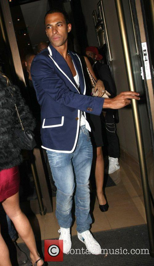 Marvin Humes Celebrities attend the birthday party of...