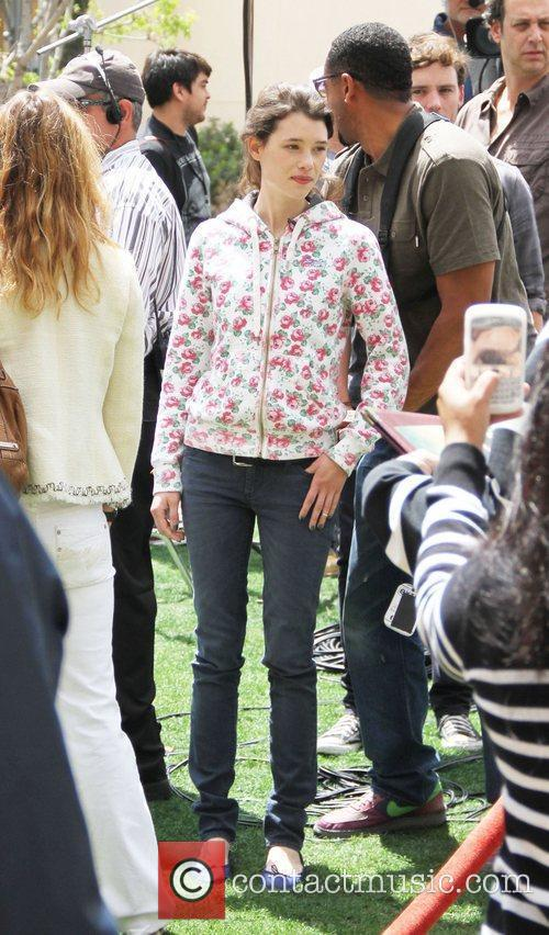 Astrid Berges-Frisbey at The Grove to film an...