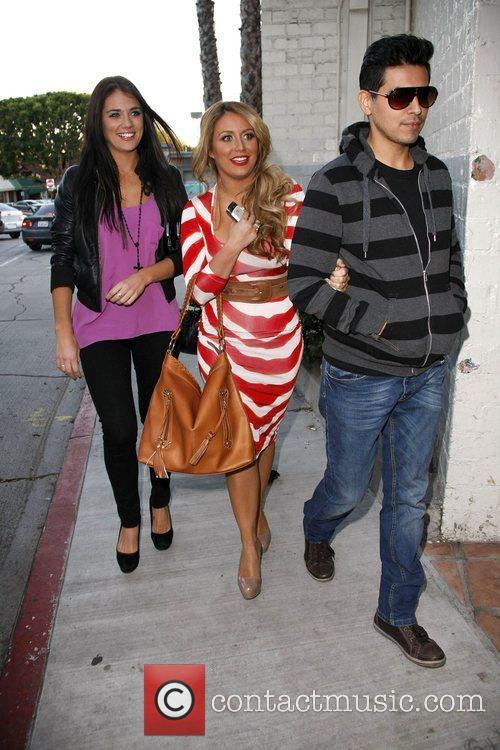Aubrey O'Day arriving at the Belwood Bakery Brentwood,...