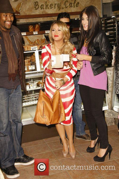 Aubrey O'Day at the Belwood Bakery Brentwood, California