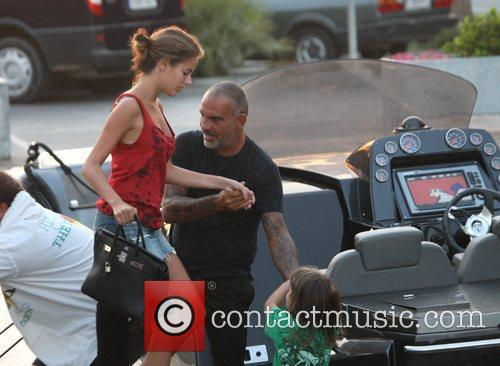 Christian Audigier enjoys some quality time with his...