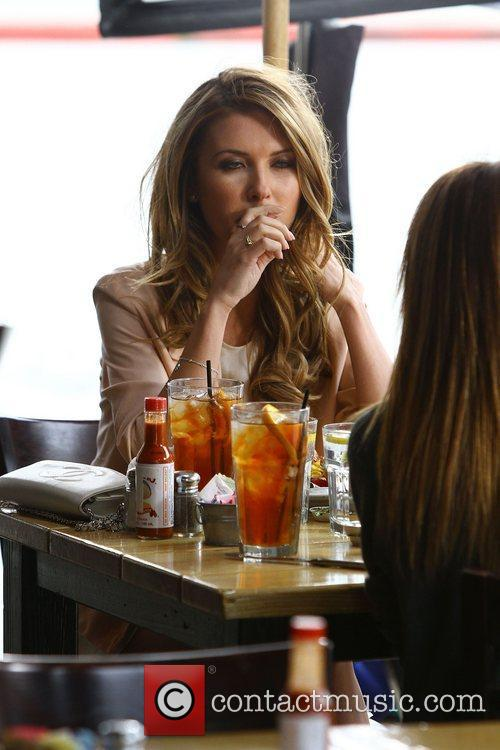 Audrina Patridge filming at Toast restaurant