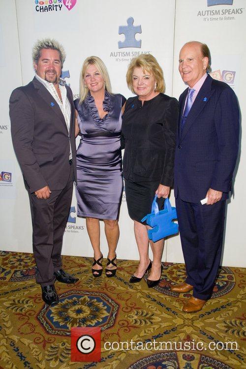 Guy Fieri, Suzanne Wright and Bob Wright...
