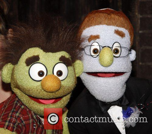 Newlyweds Ricky and Rod attend the 'Avenue Q'...