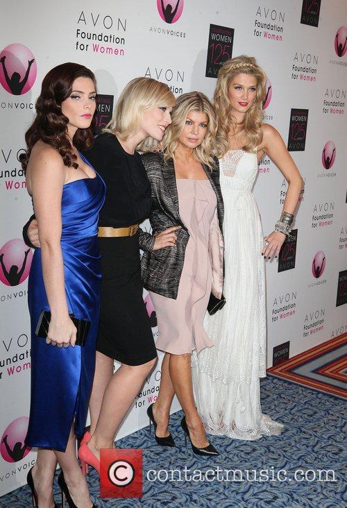 (L-R) Ashley Greene, Natasha Bedingfield, Fergie, and Delta...