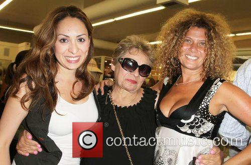 Jen Lesser with her mother and Sophie Wizmann...