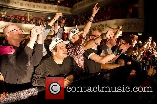 Fans of Big Audio Dynamite performing live at...