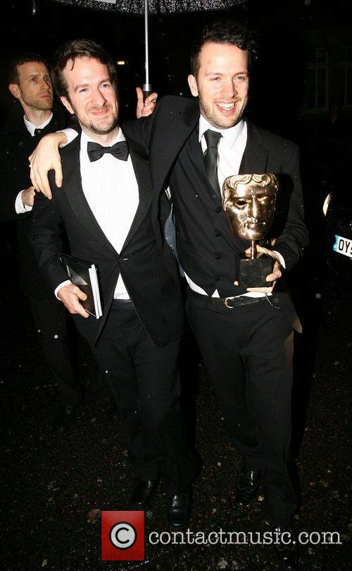 Michael Please (right) with the Short Animation award,...