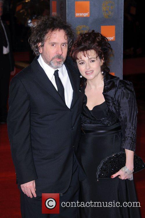 Tim Burton and Helena Bonham Carter Orange British...