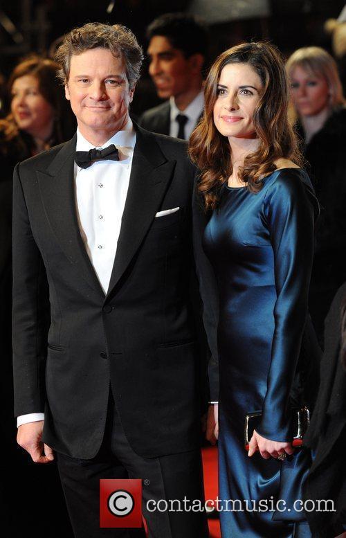 Colin Firth and wife Livia Giuggioli Orange British...