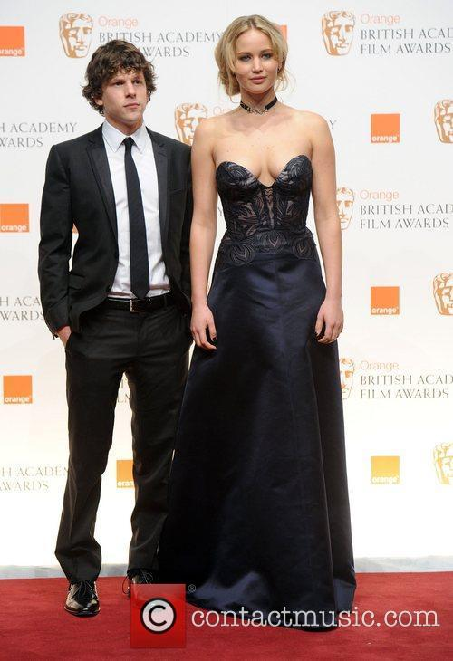 Jesse Eisenberg and Jennifer Lawrence 1