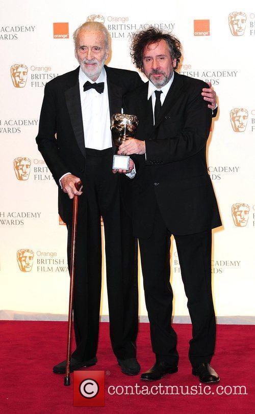 Christopher Lee and Tim Burton 1