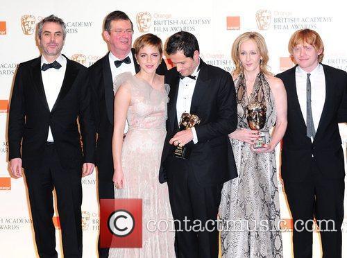 David Heyman, David Hayman, Emma Watson, Jk Rowling and Rupert Grint 7