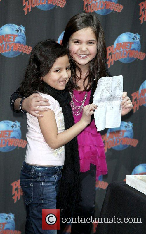 Ashley Moya with Wizards of Waverly Place star,...