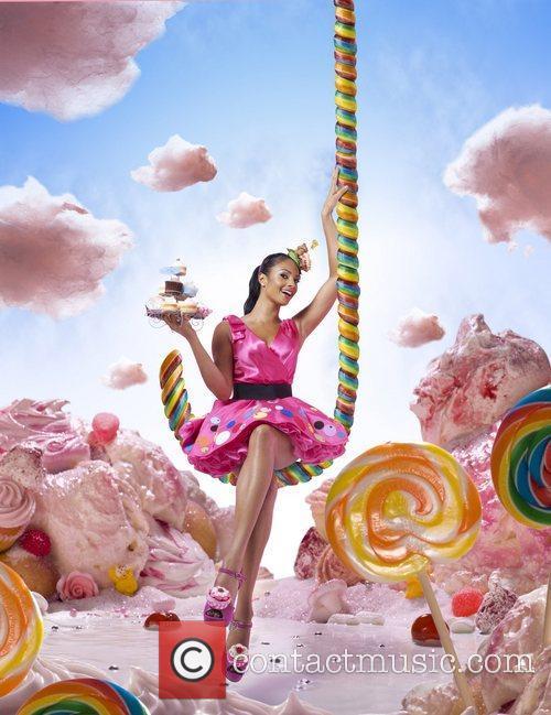 Alesha Dixon poses in 'Land of Bake Believe',...