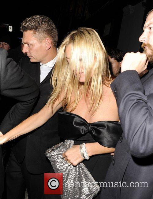 Kate Moss leaving Balans in Soho in the...
