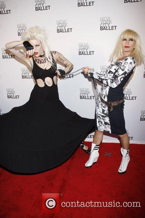 Model and Betsey Johnson New York City Ballet's...