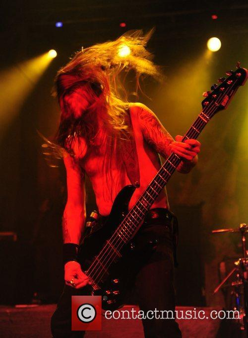 Amon Amarth performing at the 02 Academy Birmingham,...