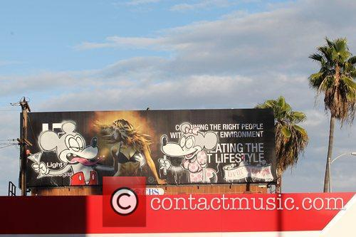 Banksy, Billboard, City High, Disney