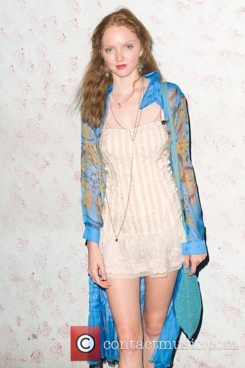 Lily Cole Barneys New York Celebrates Carine Roitfeld...