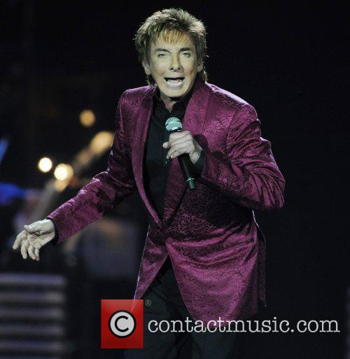 Barry Manilow performing in concert at the O2...