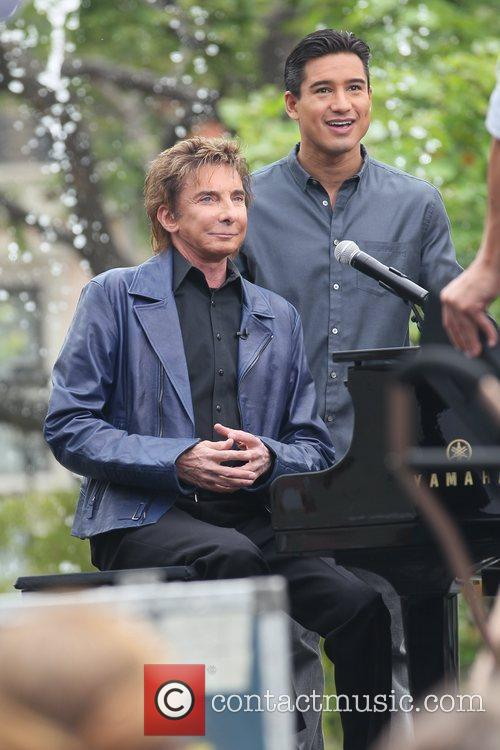 Barry Manilow and Mario Lopez at The Grove...