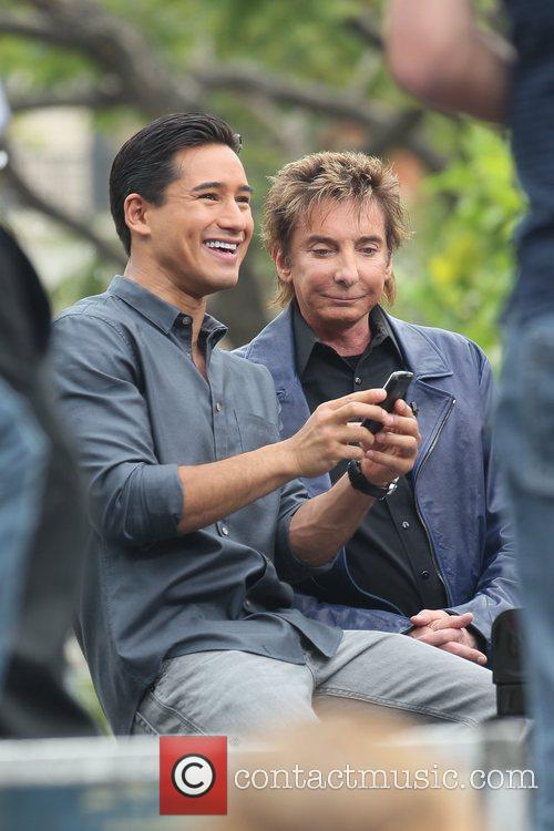 Mario Lopez and Barry Manilow at The Grove...