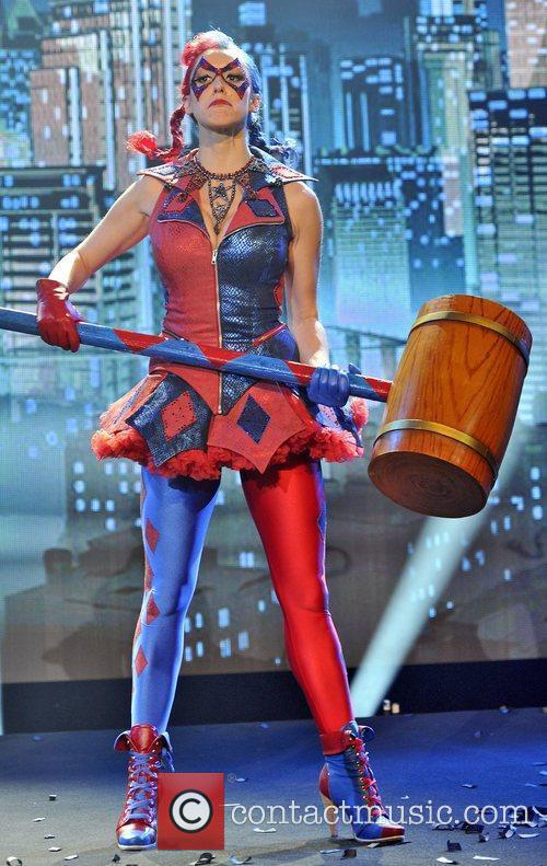 Harley Quinn, played by Poppy Tierney, appears to...
