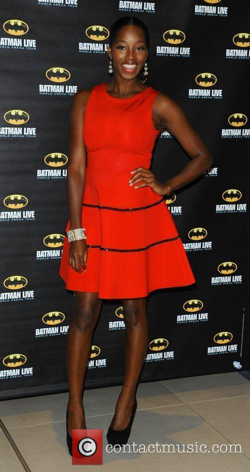 Jamelia attending the Batman Live gala performance at...