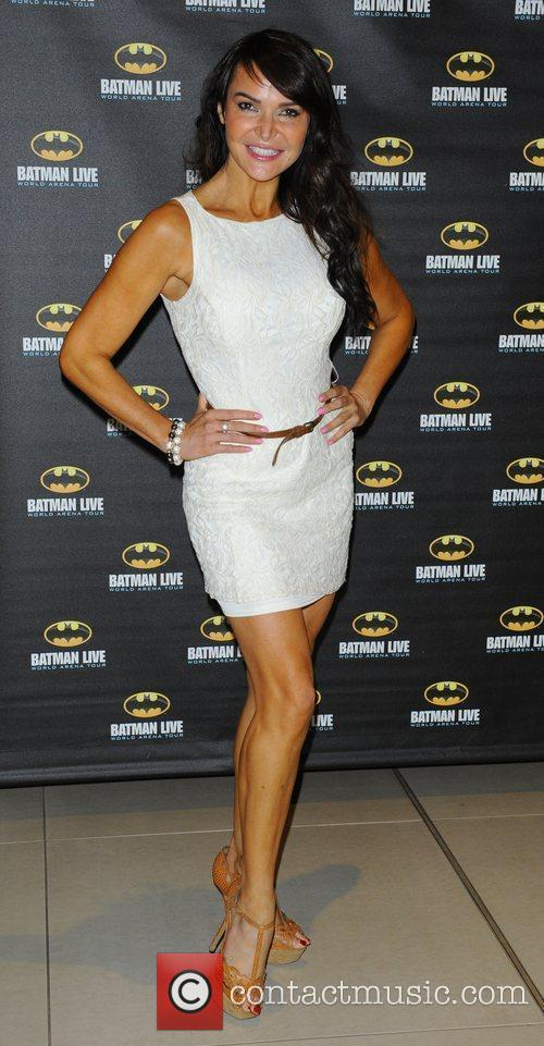 Lizzie Cundy attending the Batman Live gala performance...