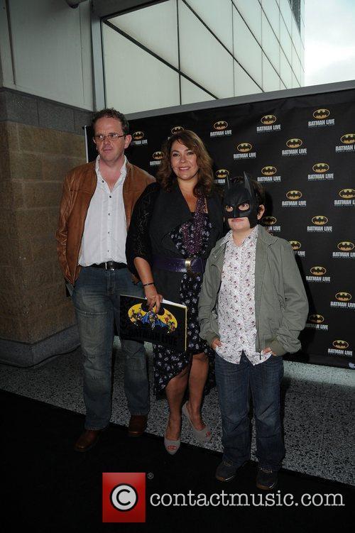 Nicole Barber-Lane (C.) and Family 'Batman Live' World...
