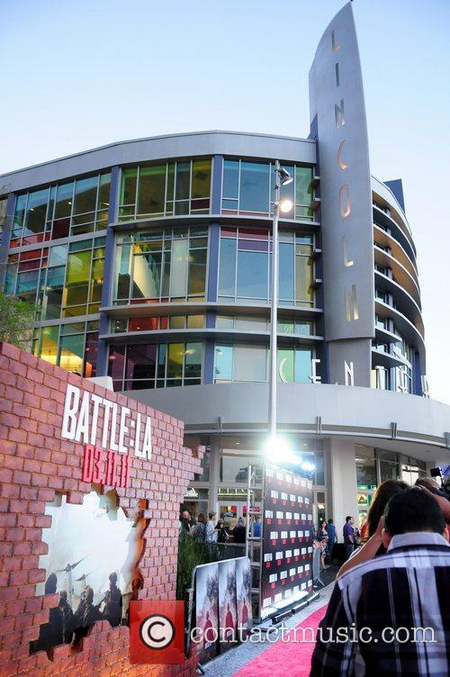 Red carpet screening of 'Battle: Los Angeles' at...