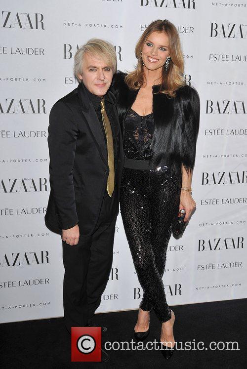 Nick Rhodes and Eva Herzigova Harper's Bazaar Women...