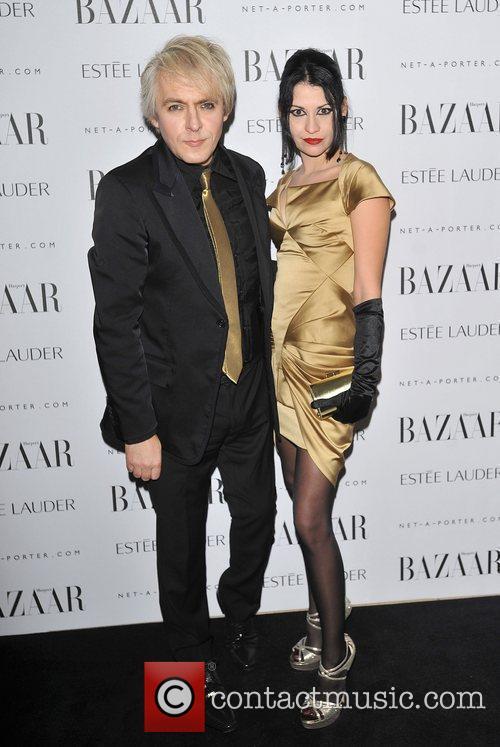 Nick Rhodes and guest Harper's Bazaar Women of...