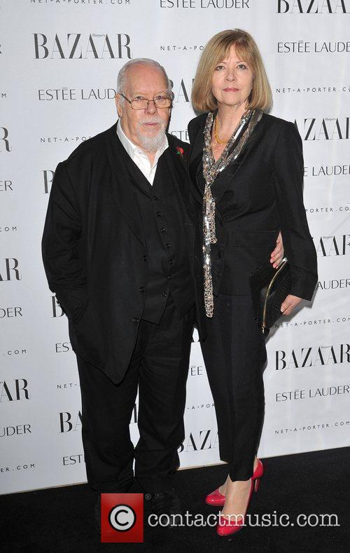 Sir Peter Blake and guest Harper Bazaar's Women...