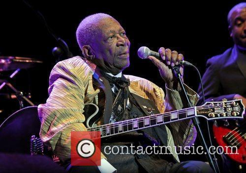 Blues legend, BB King, performing at Manchester O2...